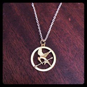 Jewelry - Gold Tone Mockingjay Necklace